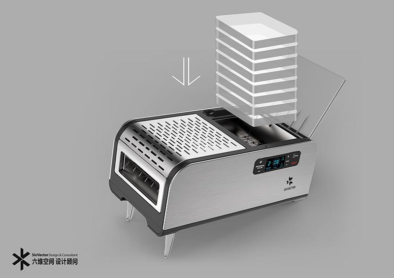 全自动智能多士炉烤面包机