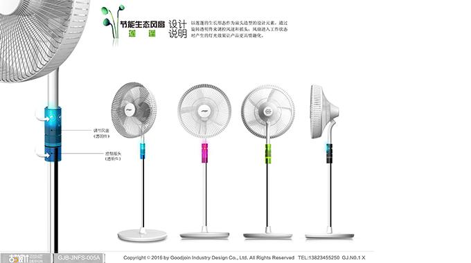 节能生态电风扇-莲蓬