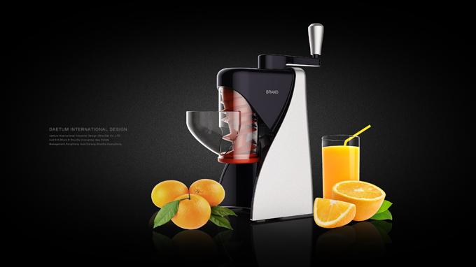 滚筒式手持多功能食物加工器外观设计