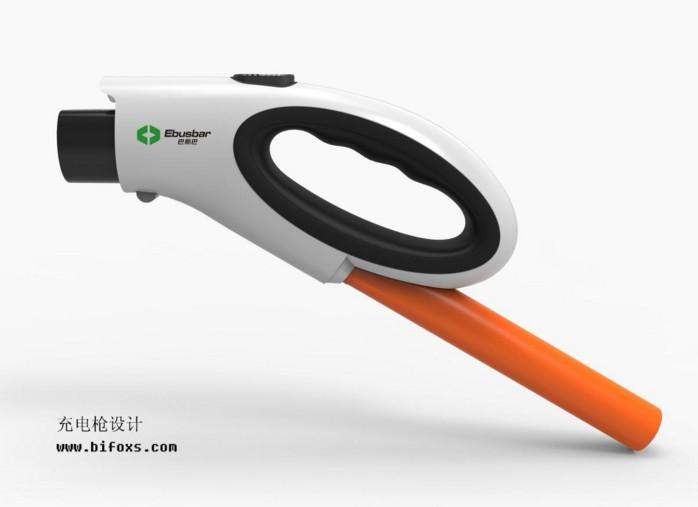 充电枪设计,小巧简洁设计突出专业的产品设计水平