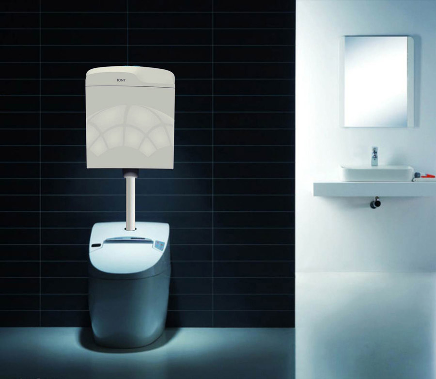 蹲便器水箱节能节水方便自动蹲便器水箱坐便器水箱