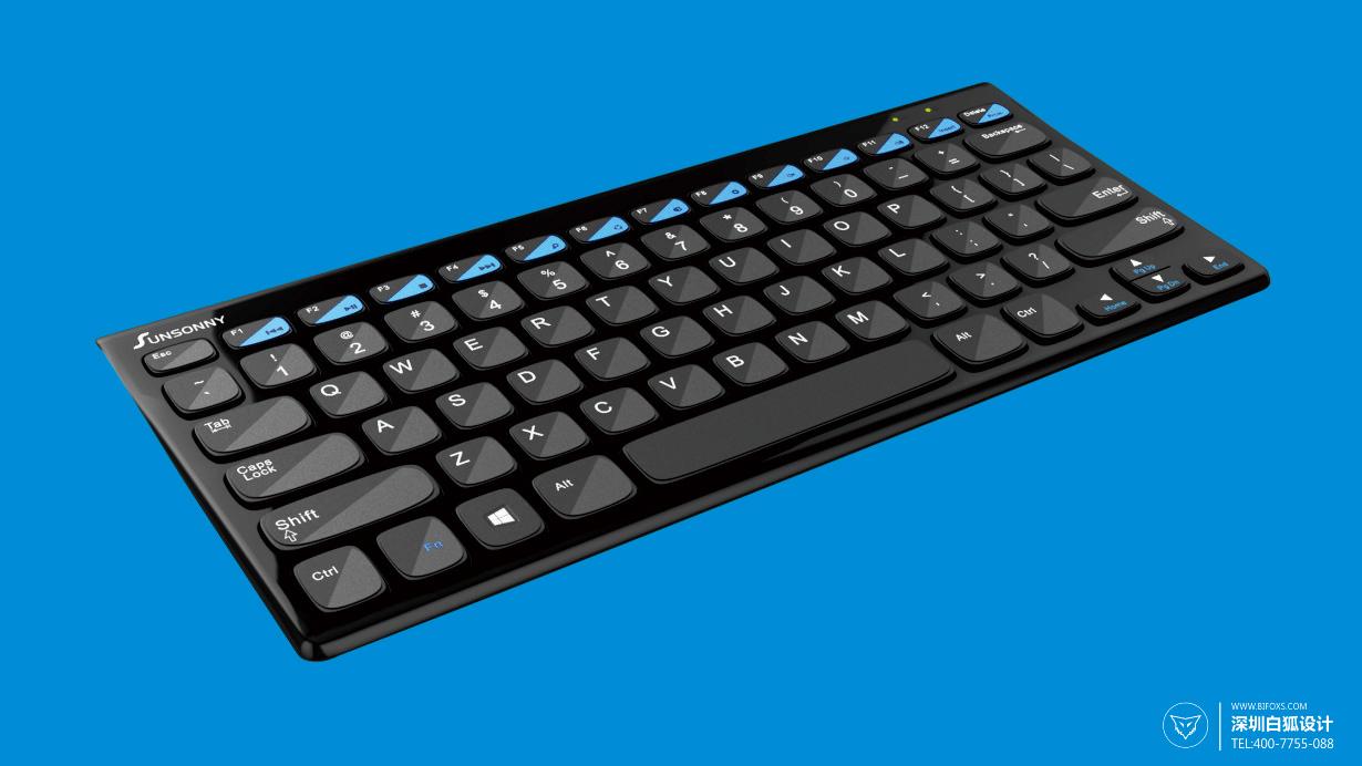 超薄键盘设计_独特的V形帽键使用更舒适