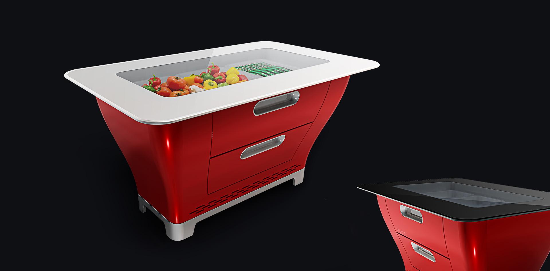 东莞市天匠工业设计有限公司——餐桌冰箱