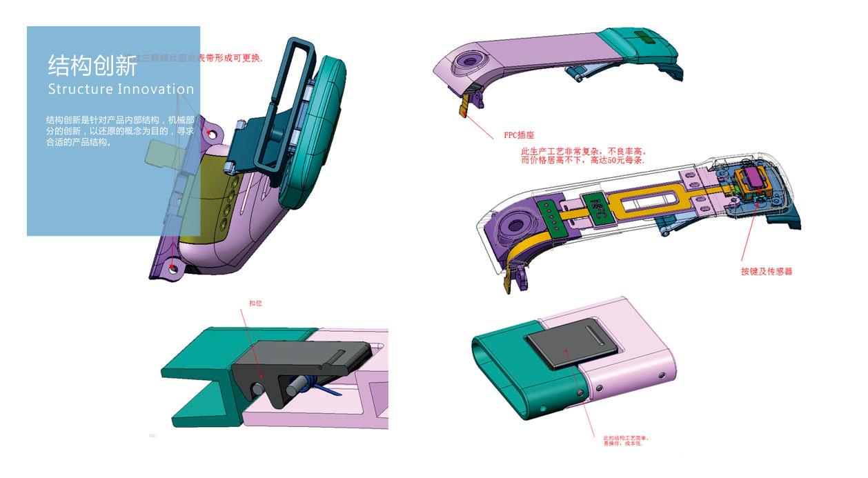 医疗产品设计_健康医疗手环设计_白狐工业设计公司