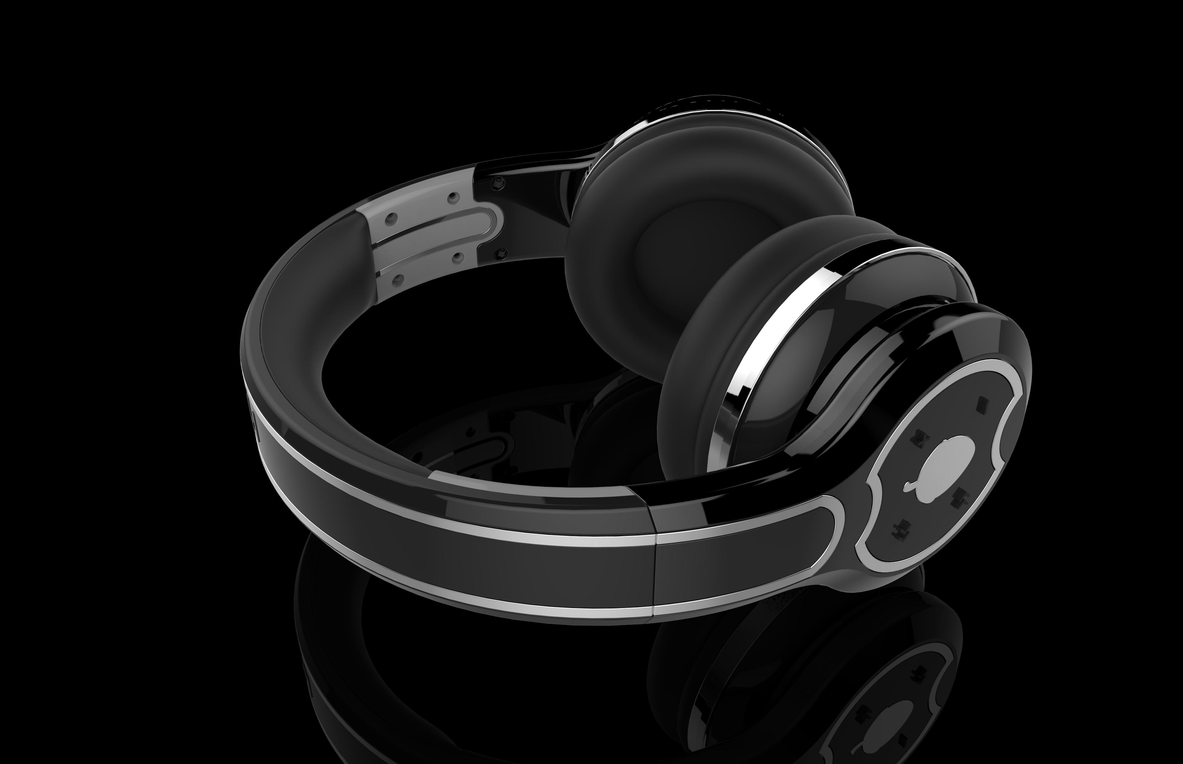 头戴耳机结构设计